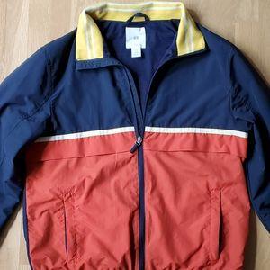 H&M Men's Jacket Navy/Orange/Yellow